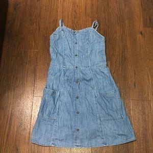 Abercrombie kids girl blue jean dress
